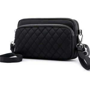 Lux Quilted Black Crossbody or Clutch